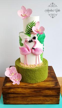 Tropical Wedding Cake_