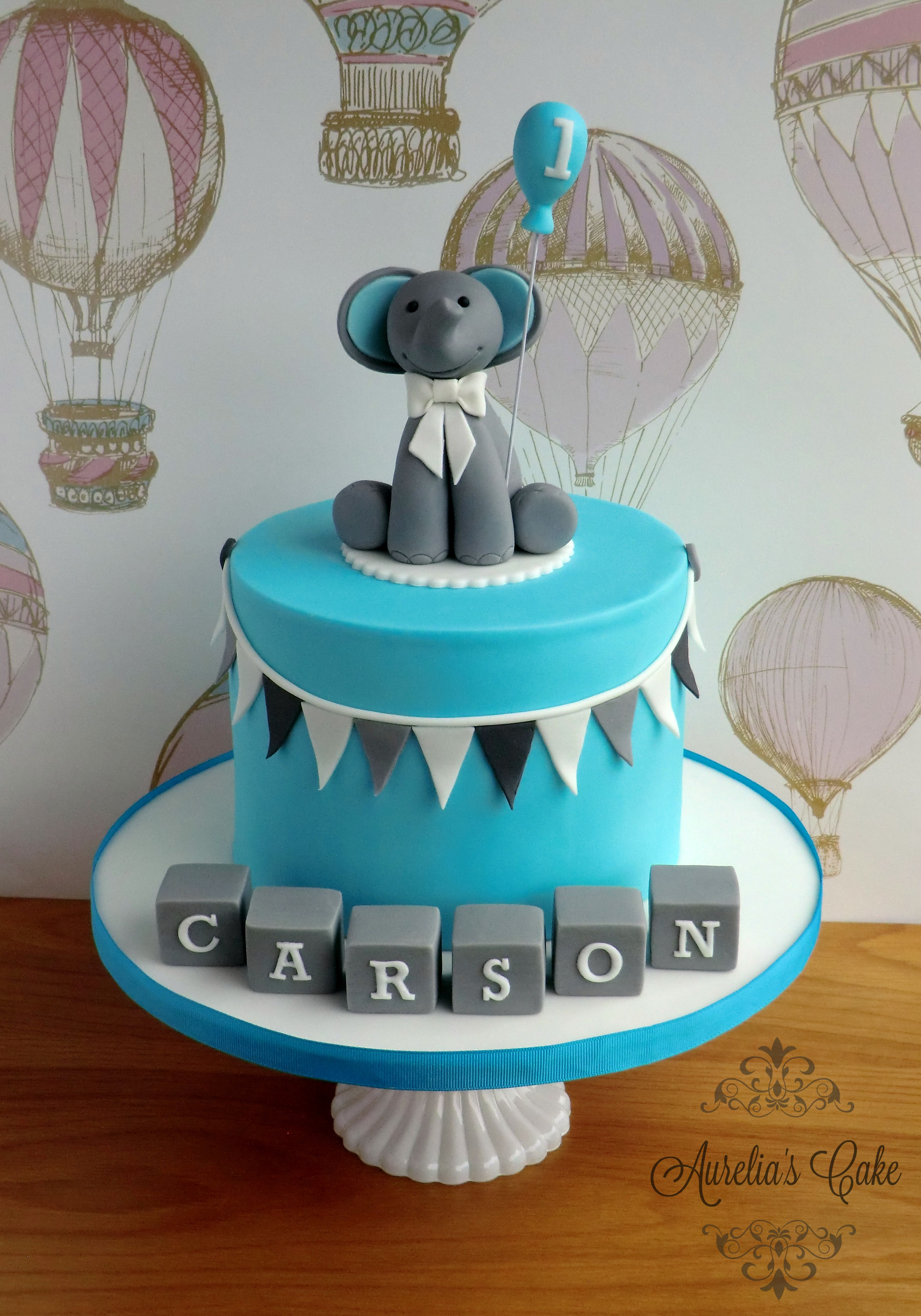 First birthday elephant cake.