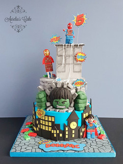 Lego_Superhero Cake
