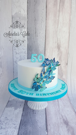 Blue butterflye cakle