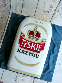 2D Beer Tyskie Can Cake