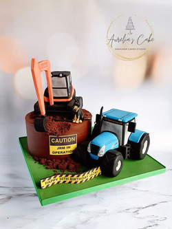 Digger_Tractor Cake
