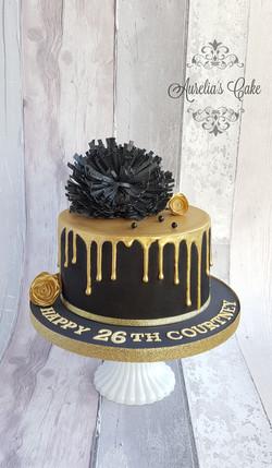 Black_gold drip cake