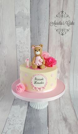 Teddy bear cake_1st birthday cake_