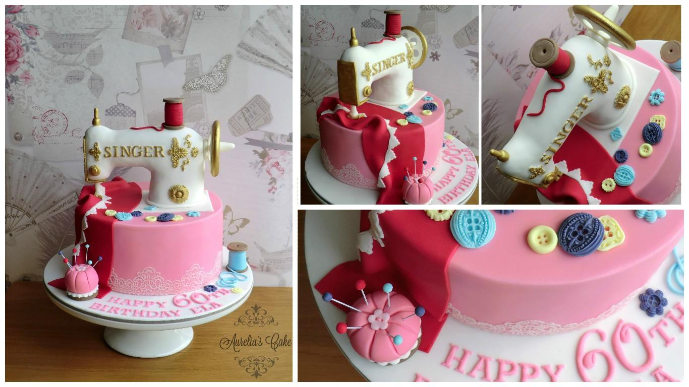 Sewing machine cake.