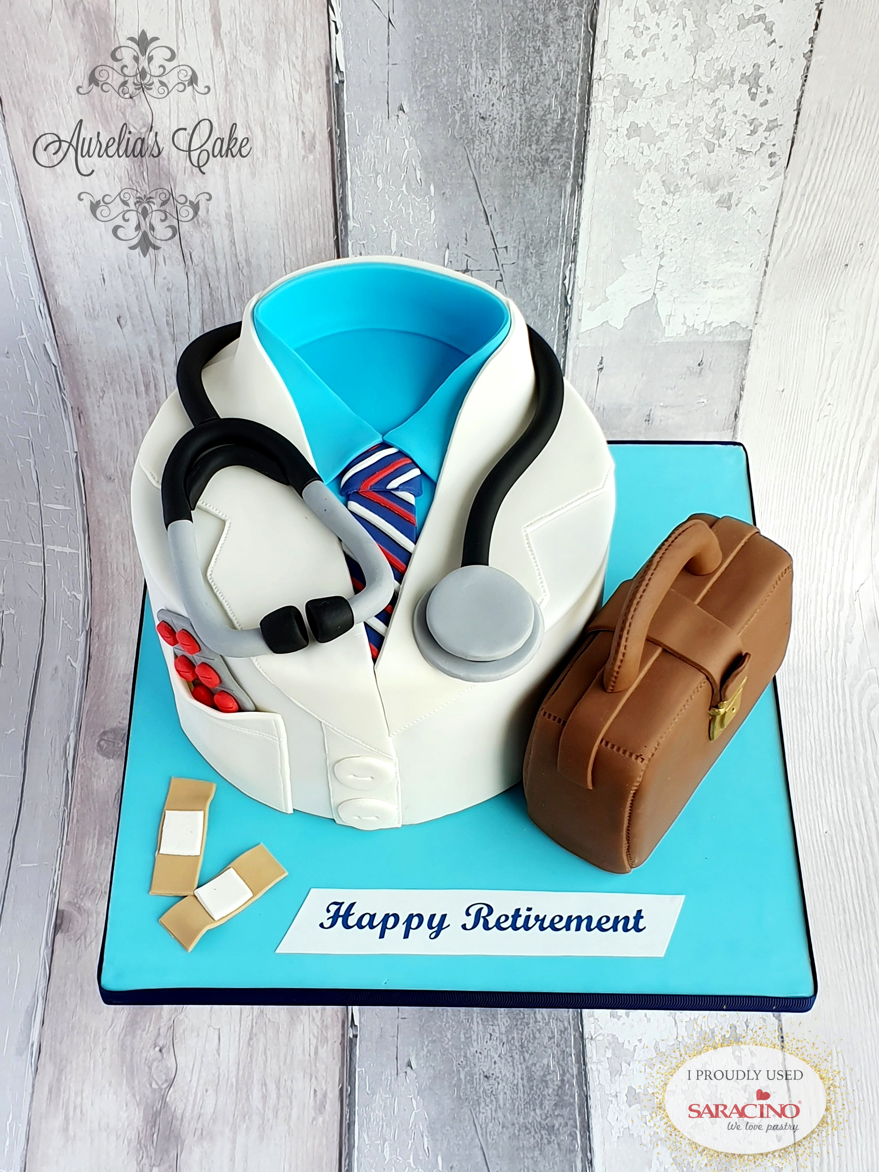 Doctor themed cake