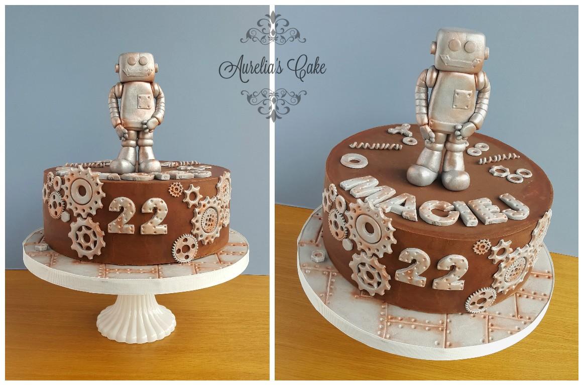 Steampunk/Robot cake.