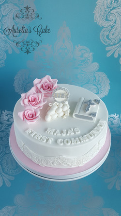 First Communion Cake for Girl