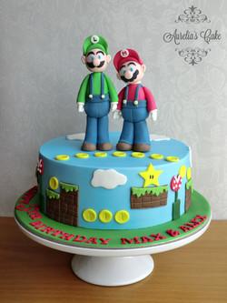 Mario Brothers cake.