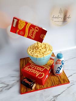 Gravity-defying Mac and Cheese Cake