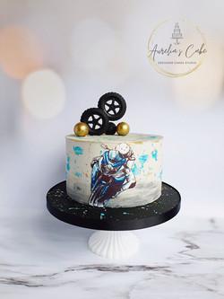 Motorbike Drip Cake