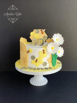 Bee themed cake