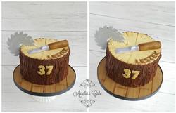 Stump cake for carpenter_