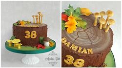 Forest/fall chocolate ganach cake.