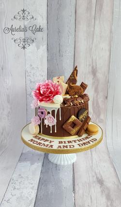 Drip cake double birthday