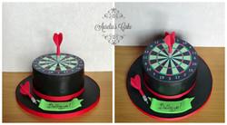 Dartboard cake.