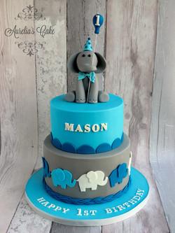 Christening/birthday elephant cake.