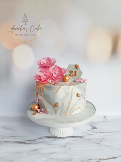 Rose Gold_Marble Bee Cake
