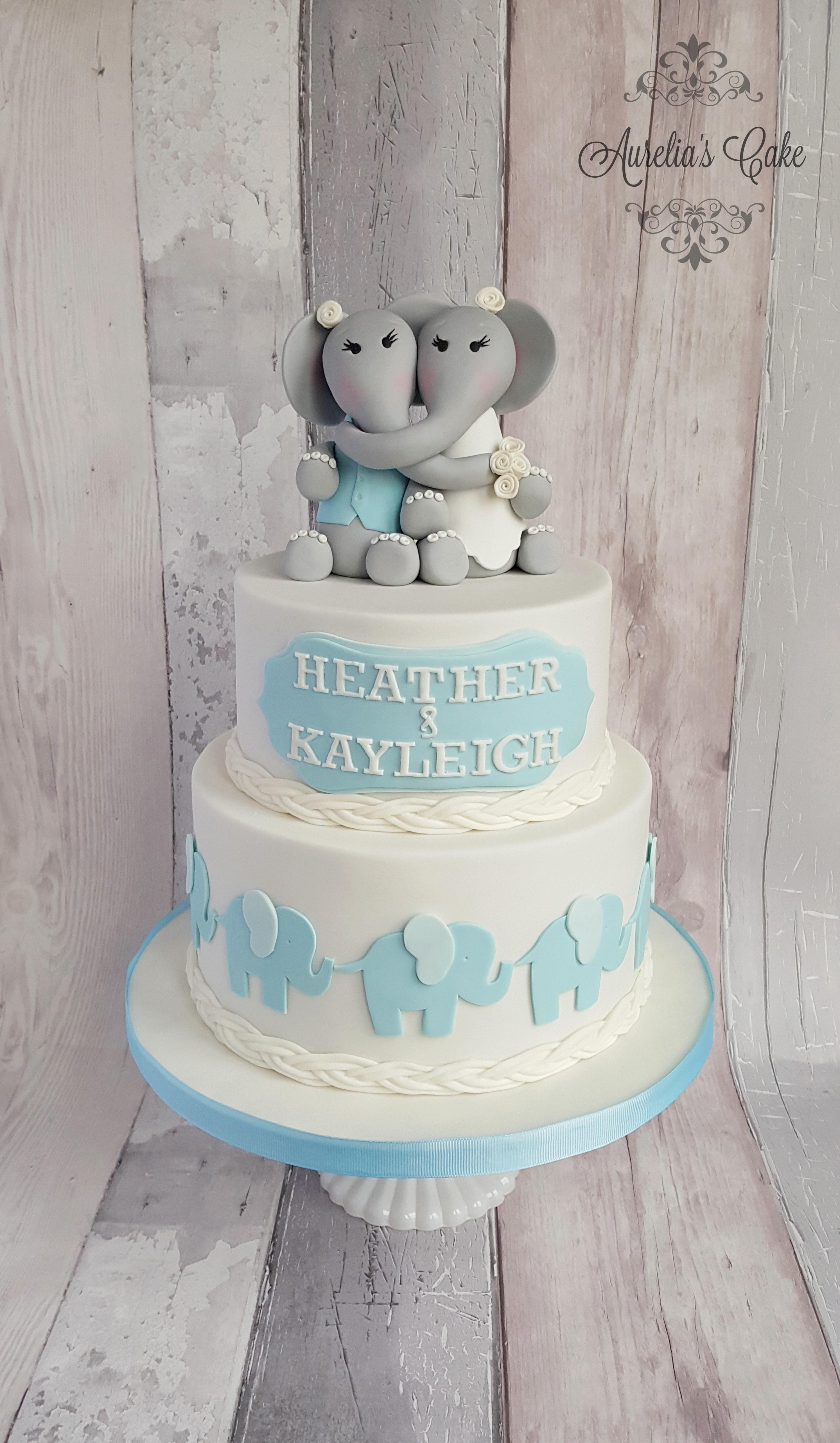 Elephant wedding cake