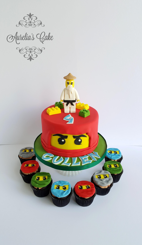 Ninjago cake and cupcakes_