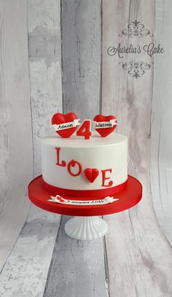 Heart cake_Wedding Anniversary cake