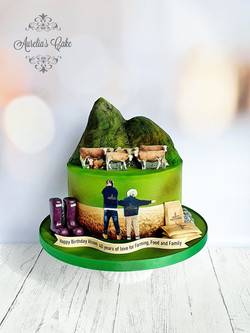 Farming themed Cake