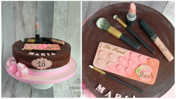 Make up cake.