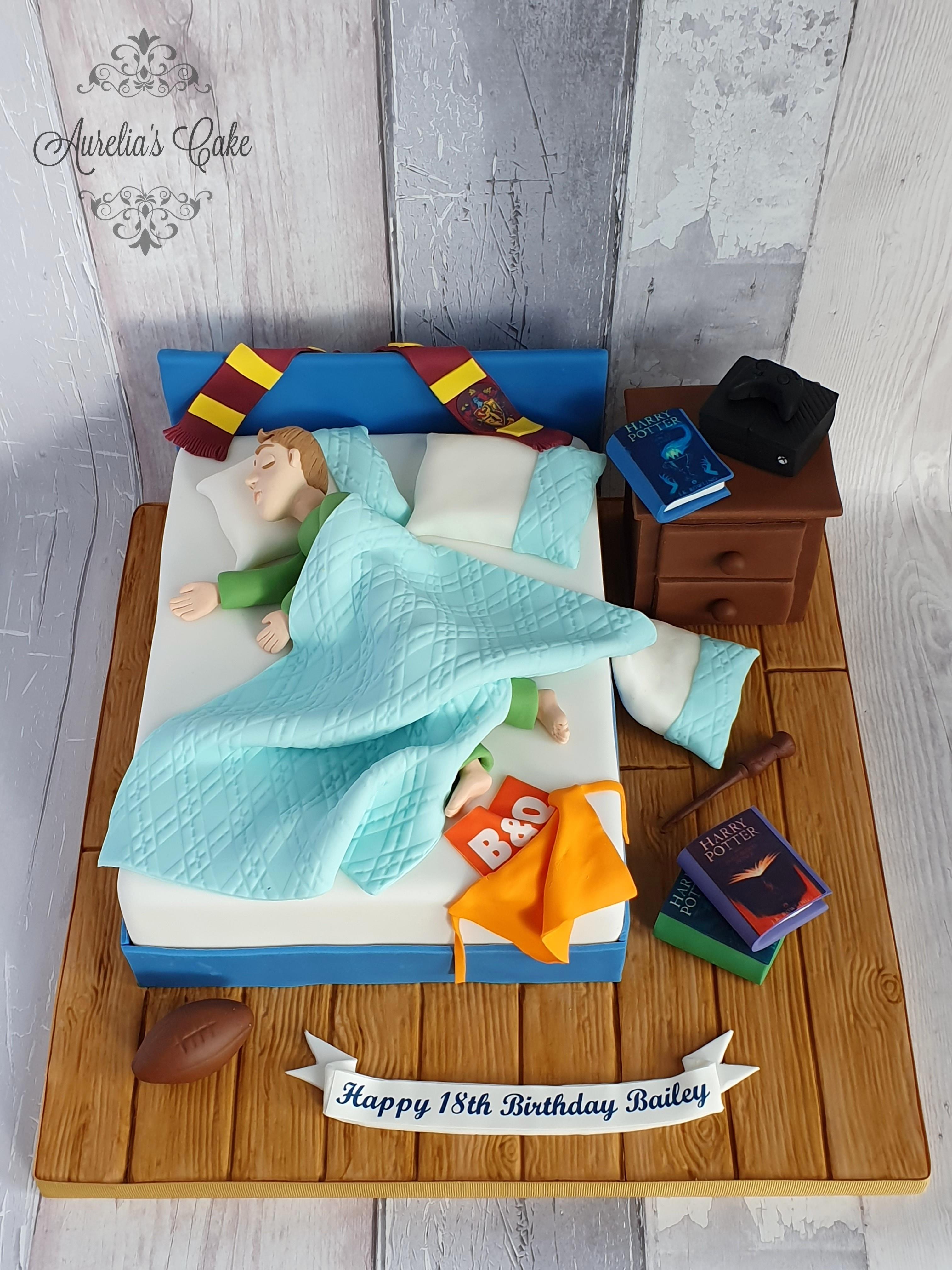 Teen bedroom cake