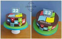 Computing cake.