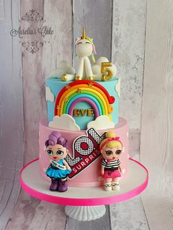 Dolls/Unicorn Cake