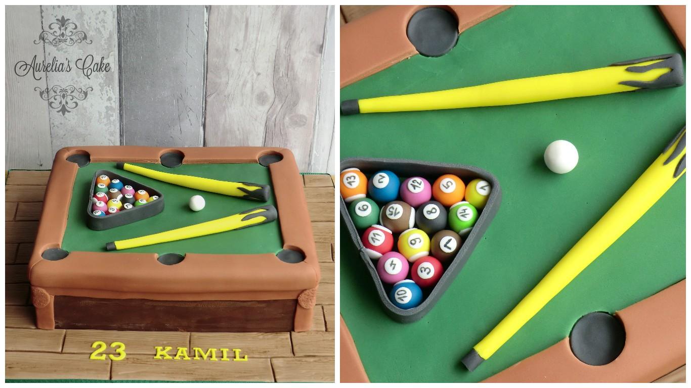 Snooker cake.