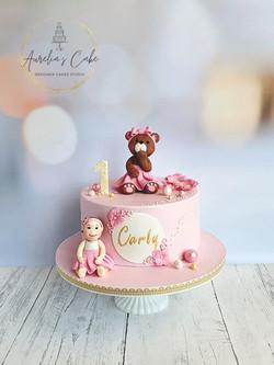 First Birthday Teddy Bear Cake