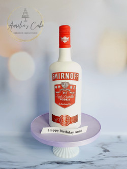 Bottle of Smirnoff 3D Cake