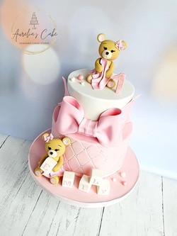 Teddy Bear Cake First Birthday