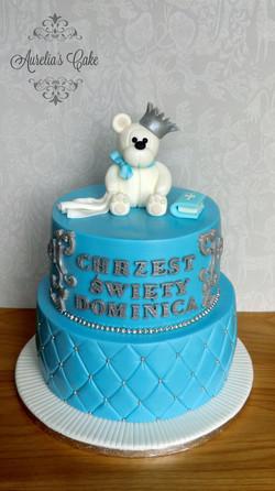 Christening/baptism teddy bear cake.