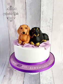 Dogs themed cake