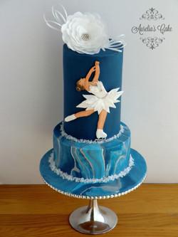 Ice skating cake.