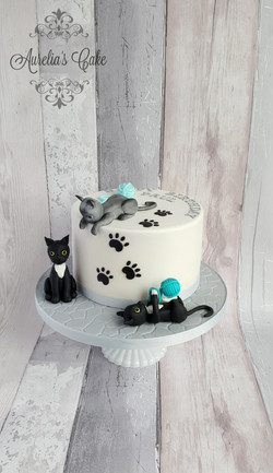 Cats themed cake