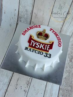 Beer Tyskie Bottle Cap Cake