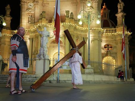Sehem l-Għaqda Madonna tal-Grazzja Banda San Mikiel fil-Ġimgħa Mqaddsa