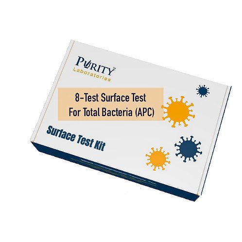SURFACE TESTING FOR TOTAL BACTERIA - 8 Tests