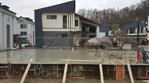 서천동 목조주택 1층 바닥기초 시공