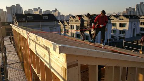 서천동 목조주택 목구조공사-2층,지붕