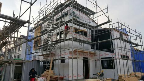 서천동 목조주택 외부 시공작업-1