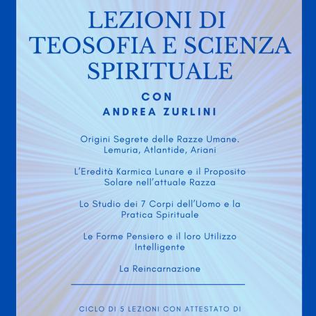 LEZIONI DI TEOSOFIA E SCIENZA SPIRITUALE a cura di Andrea Zurlini