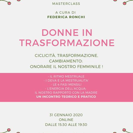 Masterclass di Donne in Trasformazione del 31 Gennaio 2020