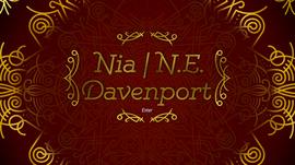 Nia | N.E. Davenport Logo & Background