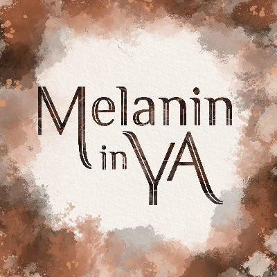 Melanin in YA logo with different shades of brown water colors.