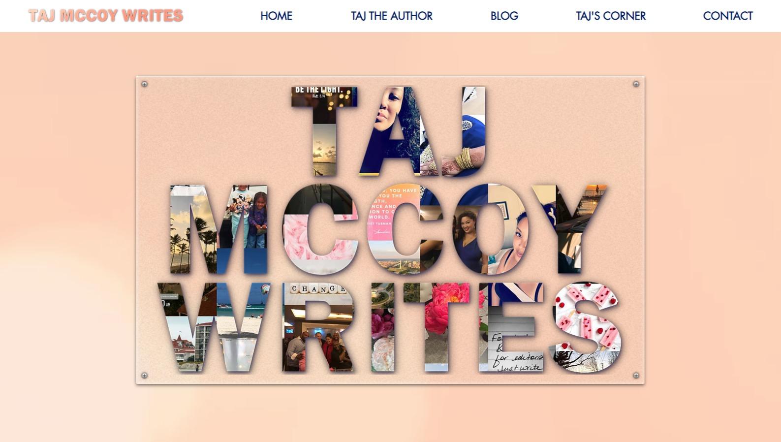 Author Taj McCoy
