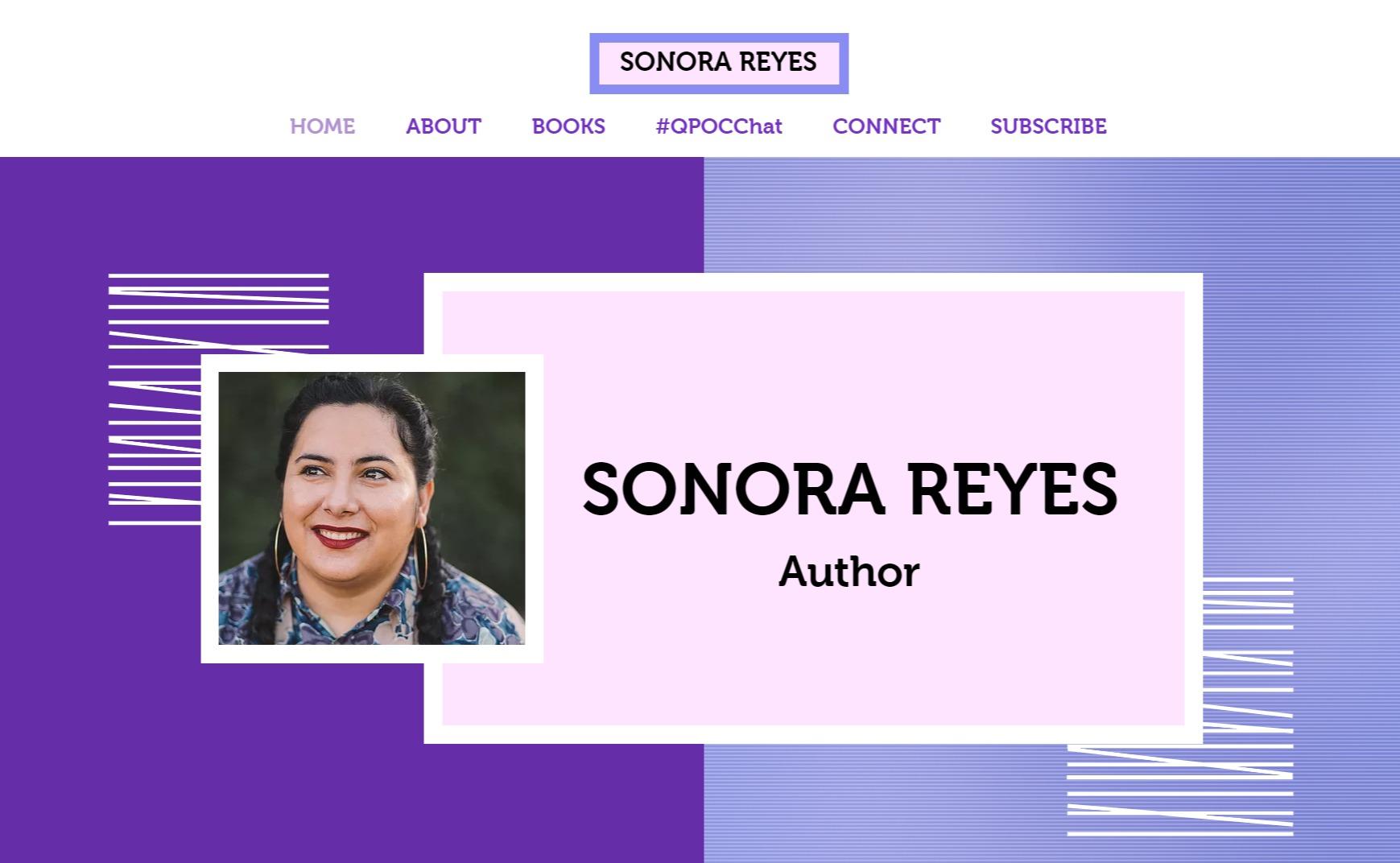 Sonora Reyes Author